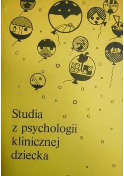 Studia z psychologii klinicznej dziecka