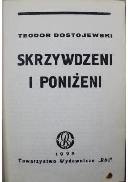 Skrzywdzeni i poniżeni 1928 r.
