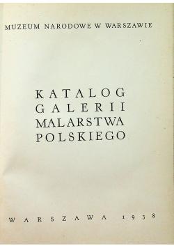 Katalog galerii malarstwa polskiego 1938r