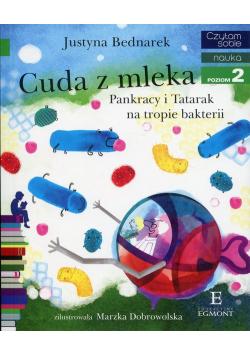 Czytam sobie Cuda z mleka Pankracy i Tatarak na tropie bakterii poziom 2