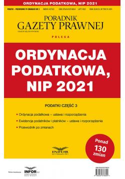 Ordynacja podatkowa NIP 2021