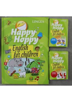 Happy Hoppy English for children + Fiszki + płyta CD