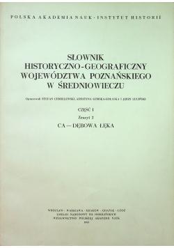 Słownik historyczno geograficzny województwa Poznańskiego zeszyt 2