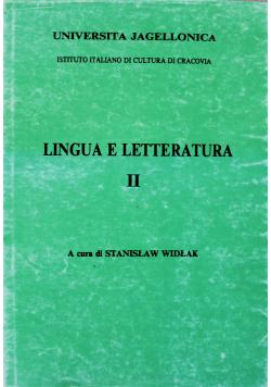 Lingua e letteratura II