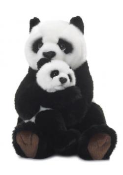 Panda z dzieckiem 28cm WWF
