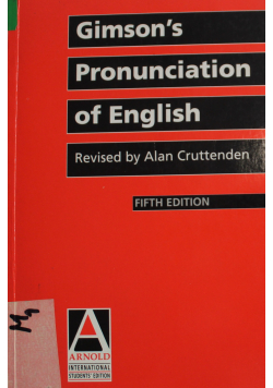 Gimson s pronunciation of english