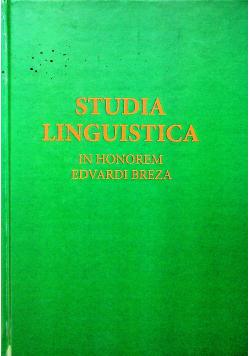 Studia Linguistica in honorem Edvardi Breza