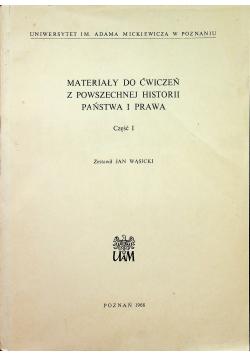 Materiały do ćwiczeń z powszechnej historii państwa i prawa Część I
