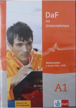 DaF im Unternehmen A1 2 Audio PŁYTA CD DVD NOWA