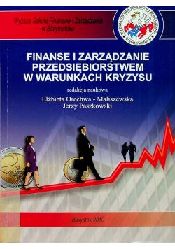 Finanse i zarządzanie przedsiębiorstwem w warunkach kryzysu