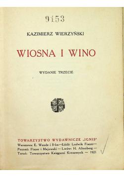 Wiosna i wino 1921 r