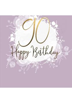 Karnet kwadrat CL0990_SG Urodziny 90