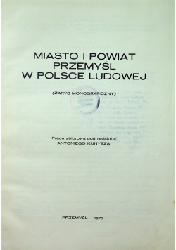 Miasto i powiat Przemyśl w Polsce ludowej