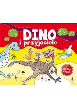 Koloruj, naklejaj - Dino i przyjaciele