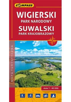 Mapa turystyczna - Wiguerski PN, Suwalski PK