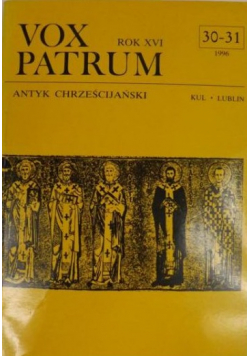 Vox Patrum Nr 30  31 Antyk chrześcijański