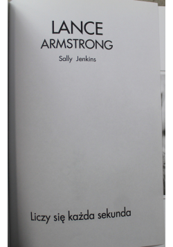 Lance Armstrong Liczy się każda sekunda