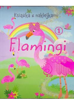 Flamingi książka z naklejkami