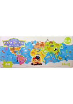 CzuCzu Puzzle Mapa świata Zwierzęta