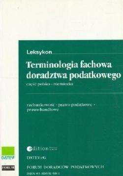 Terminologia fachowa doradztwa podatkowego część polsko - niemiecka