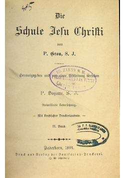 Die Schule Jesu Christi 1894 r.