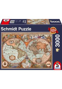 Puzzle PQ 3000 Starożytna mapa świata G3