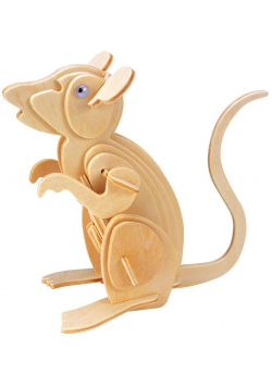Łamigłówka drewniana Gepetto - Mysz G3