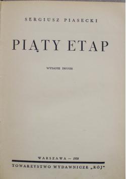 Piąty Etap 1938 r.