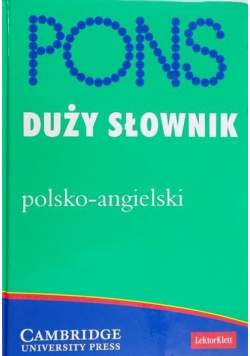 Pons duży słownik polsko - angielski