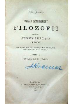 Wykład systematyczny filozofii 2 tomy 1877 r.