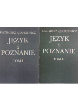Język i poznanie 2 tomy