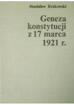 Geneza konstytucji z 17 marca 1921 r