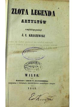 Złota legenda artystów 1848 r.