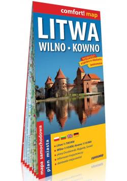 Litwa Wilno Kowno laminowana mapa samochodowa 1:700 000/1:10 000/1:15 000