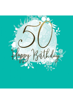 Karnet kwadrat CL0950_SG Urodziny 50