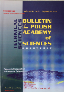 Bulletin of the polish academy of sciences volume 58 no 3
