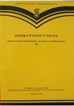 Judaika wydane w Polsce Druki zwarte i niesamoistne Materiały do bibliografii 1993