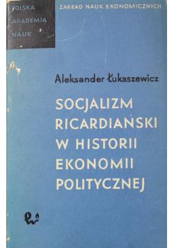 Socjalizm ricardiański w historii ekonomii politycznej