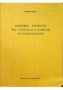 Memorie Storiche del Castello e Comune di Carmignano Reprint z 1895 r