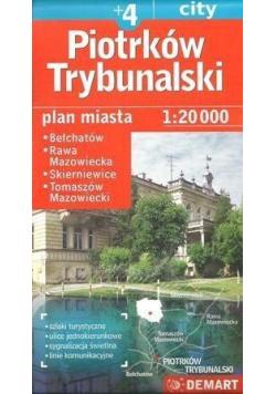 Plan miasta Piotrków Tryb./Skierniewice +4 1:20000