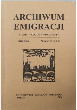 Archiwum Emigracji Zeszyt 1 2  7 8