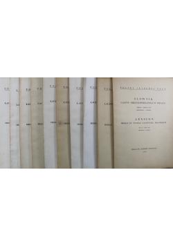 Słownik łaciny średniowiecznej w Polsce Tom II Zeszyt od 1 do 10