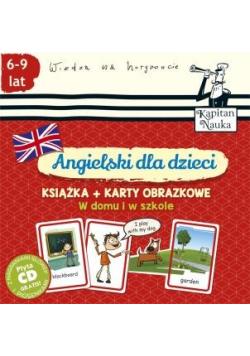 Angielski dla dzieci Książka plus karty obrazkowe W domu i w szkole