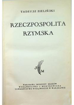Świat antyczny rzeczpospolita rzymska  1935 r.
