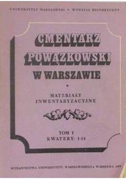 Cmentarz Powązkowski w Warszawie Materiały inwentaryzacyjne Tom I Kwatery 1 - 14