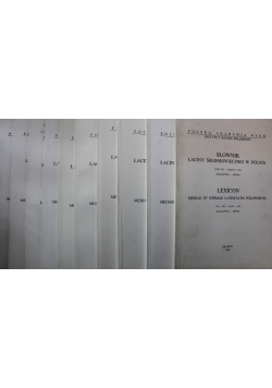 Słownik łaciny średniowiecznej w Polsce Tom VIII Zeszyt od 1 do 10