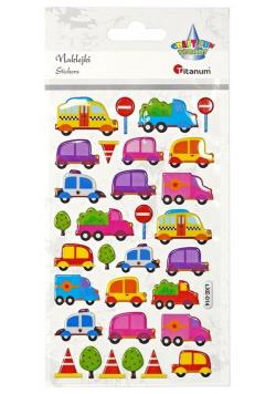 Naklejki wypukłe pojazdy, znaki drogowe 31szt