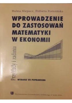 Wprowadzenie do zastosowań matematyki w ekonomii