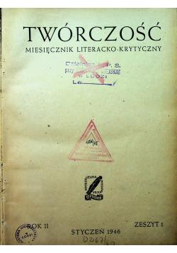 Twórczość miesięcznik literacko krytyczny numery od 1 do 4 1946 r