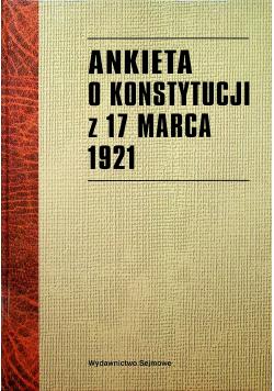 Ankieta o konstytucji z 17 marca 1921 reprint